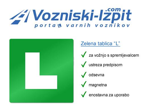 Zelena tablica L